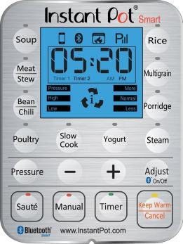 Control panel and display screen of Instant Pot SMART