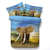 Kids Elephant Print 3D Design Jungle Animal Twin, Full ...