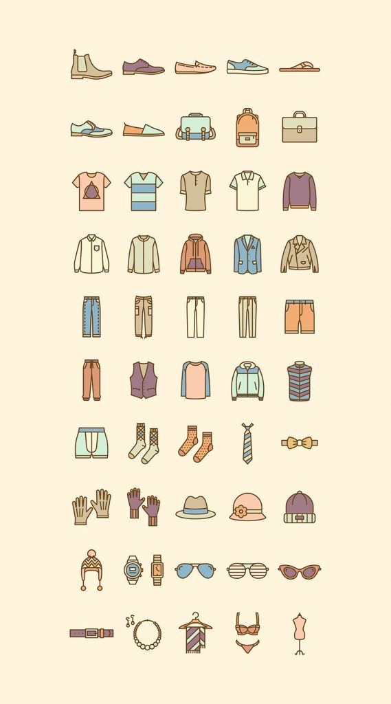 The Best 8+ Free Fashion Vector Icon Sets - Hipsthetic