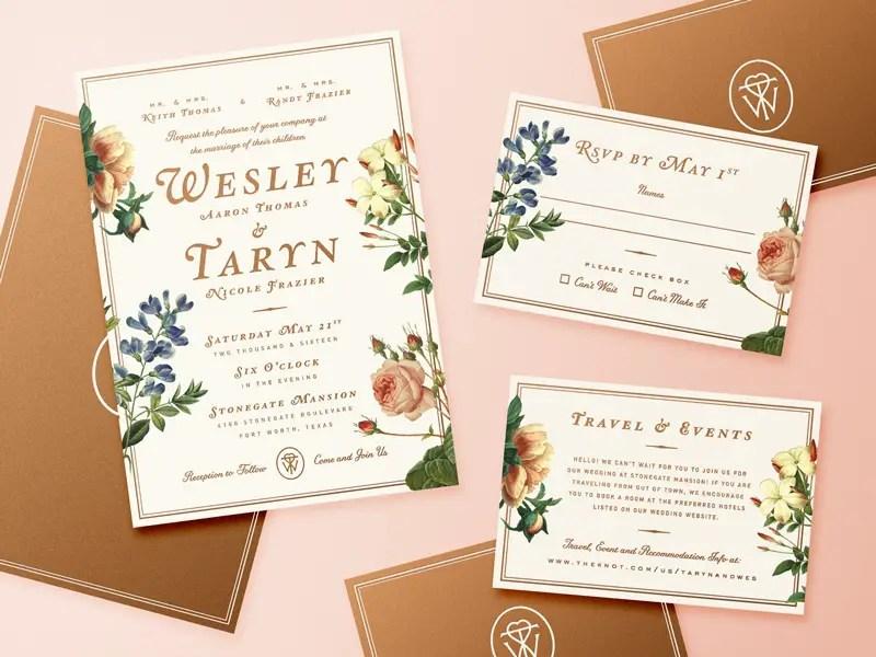 20+ Gorgeous Wedding Invitation Designs 2018