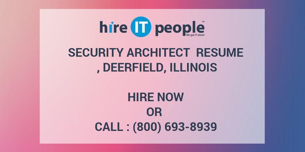 Security Architect Resume , Deerfield, Illinois - Hire IT People