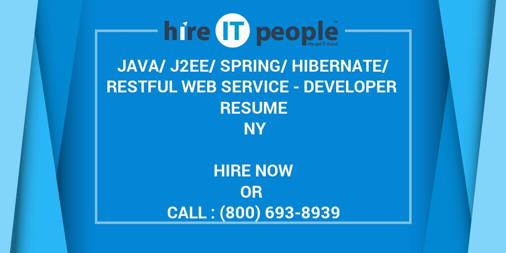 Java/J2EE/Spring/Hibernate/Restful Web service - Developer Resume NY