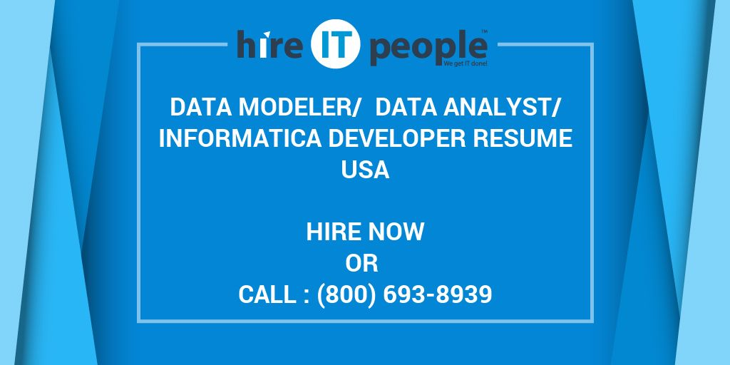 Data Modeler/ Data Analyst/Informatica Developer Resume - Hire IT