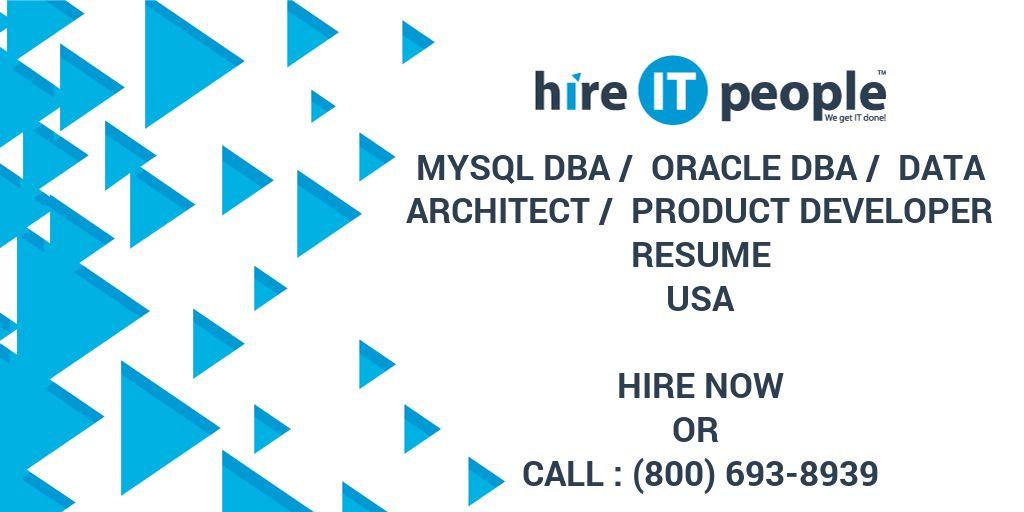 resume for oracle database architect