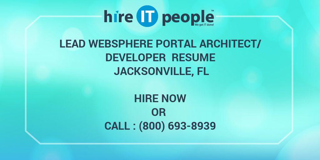 Lead WebSphere Portal Architect/Developer Resume Jacksonville, FL