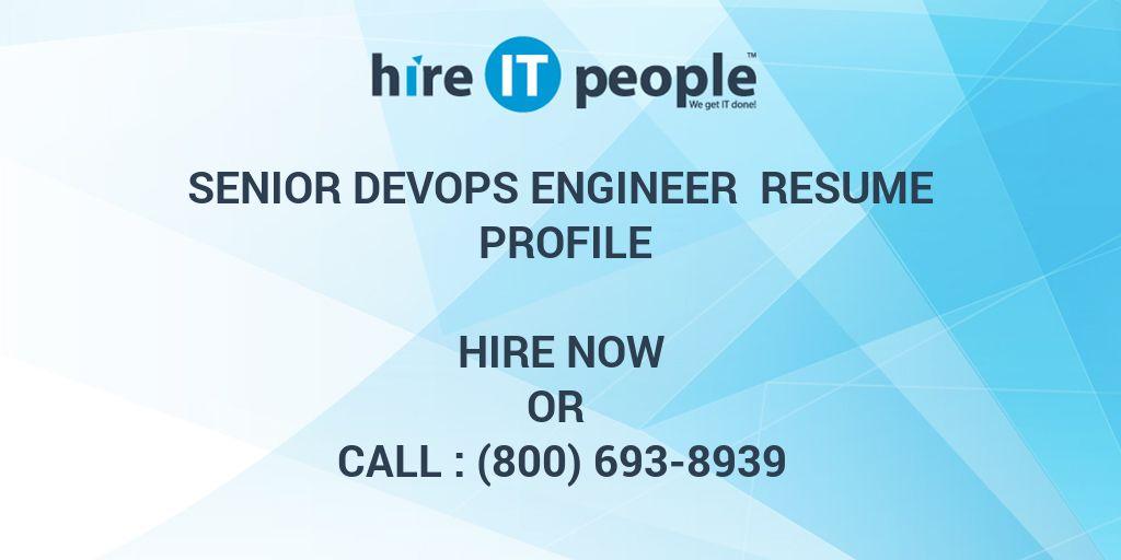 Senior DevOps Engineer Resume Profile - Hire IT People - We get IT done