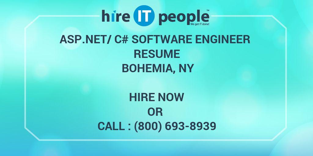 ASPNet/C# Software Engineer Resume Bohemia, NY - Hire IT People