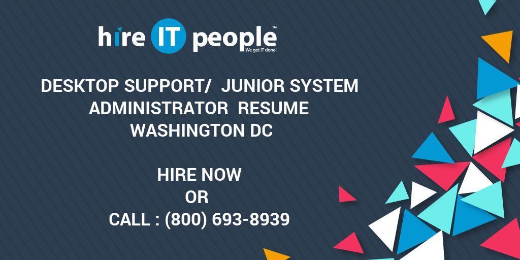 Desktop Support/ Junior System Administrator Resume Washington DC