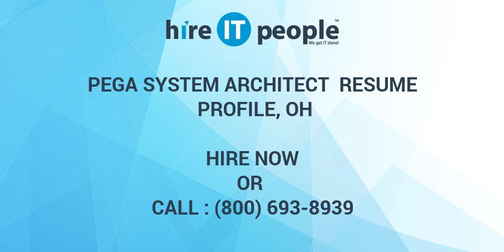 system architect resumes - Josemulinohouse - pega architect sample resume