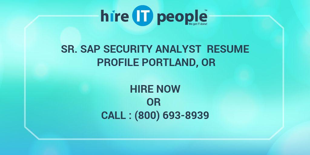 Sap Security Resume SummarySr SAP Security Analyst Resume Profile