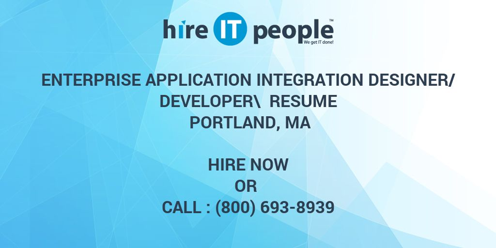 Enterprise Application Integration Resume cvfreepro