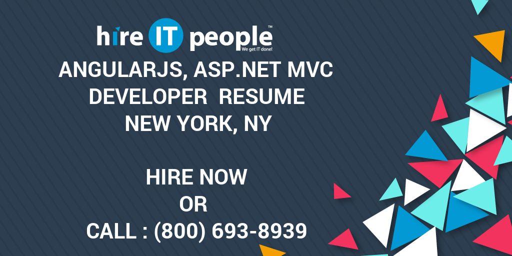 AngularJs, ASPNET MVC Developer Resume New York, NY - Hire IT