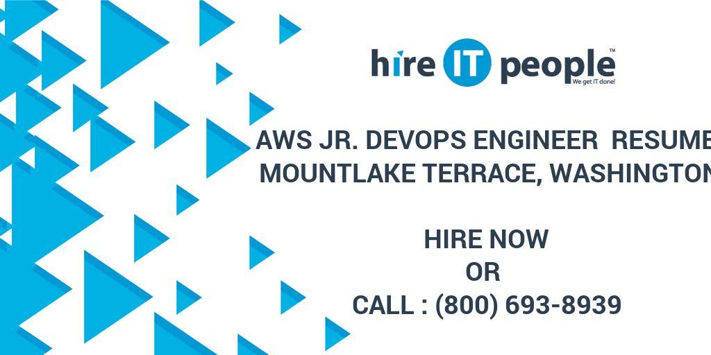 AWS Jr DEVOPS Engineer Resume Mountlake Terrace, Washington - Hire