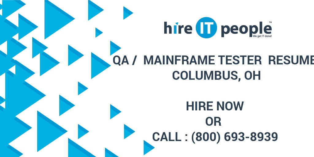 mainframe testing resume examples
