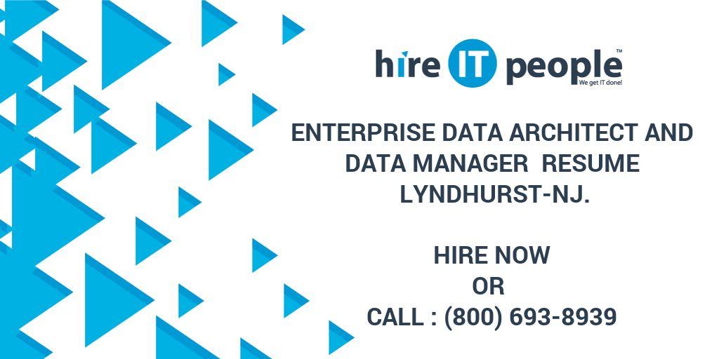 Enterprise Data Architect and Data manager Resume Lyndhurst-NJ