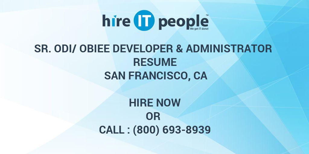 Sr ODI/OBIEE Developer  Administrator Resume San Francisco, CA