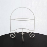 Cake Plate Stand 2 Tier White (43cm H)