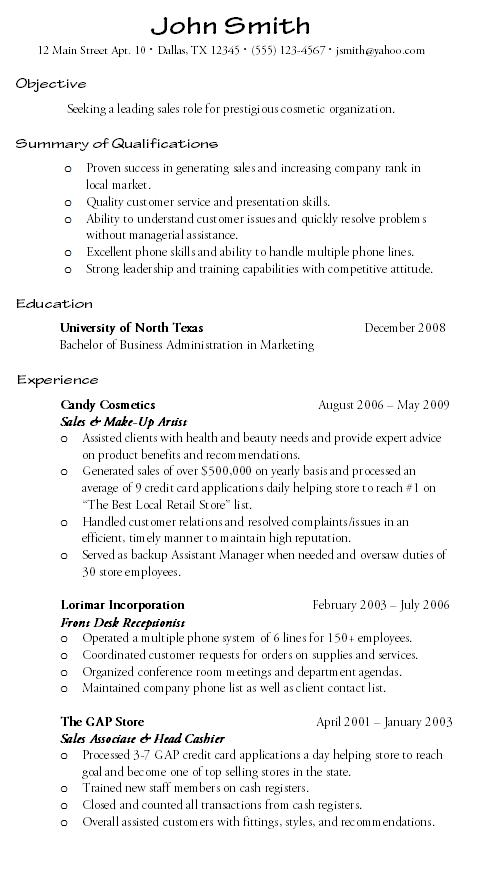 Customer Service Resume Sample - Hire Me 101 - Service List Sample