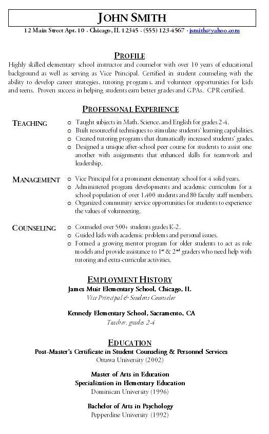 functional resume teacher - Selol-ink - peer tutor sample resume