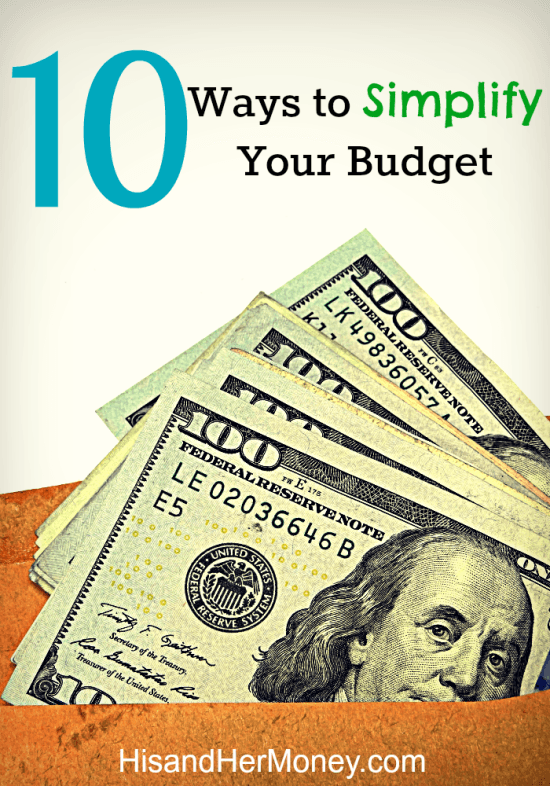 10 Ways to Simplify Your Budget