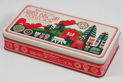 Commemorarive biscuit tin designed by Sanna Annuka celebrating 125 years of Marks &amp; Speancer
