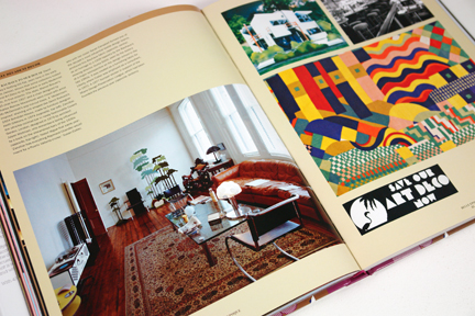 page from the book, &quot;70s Style &amp; Design&quot; showing David Bailey's Notting Hill flat