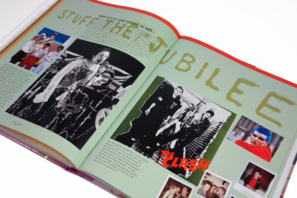 "page from the book, ""70s Style & Design"" showing several photos of punks"