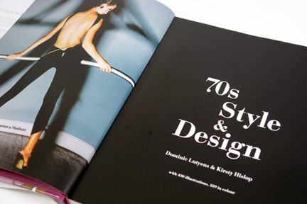 "title page from the book, ""70s Style & Design"""