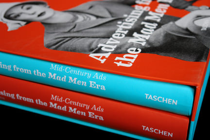 book spines of &quot;Advertising from the Mad Man Era&quot;