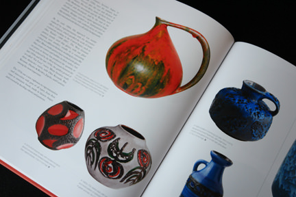 "collection of colourful West German ""Fat Lava"" pottery pots and vases"
