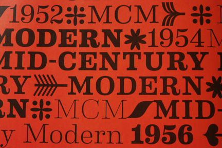 Mid-Century Modern text