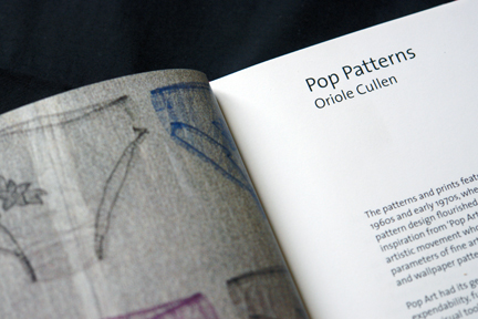 page from V &amp; A Pop Patterns book by Oriole Cullen