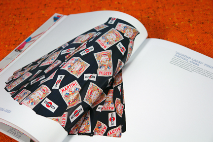 vintage maxi-skirt made from fabric printed with Martini advertising