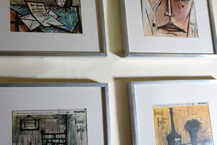 four framed Ella Fitzgerald LP covers illustrated by Bernard Buffet