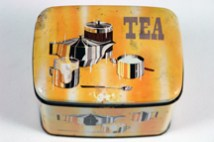 vintage 1950s tea tin