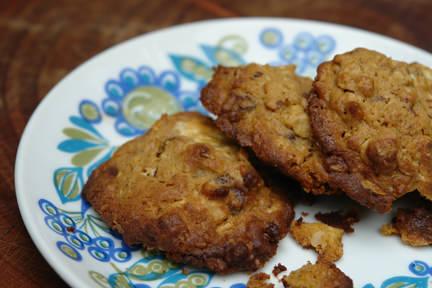 Double chocolate cookies on a vintage Figgjo Flint 'Turi' plate