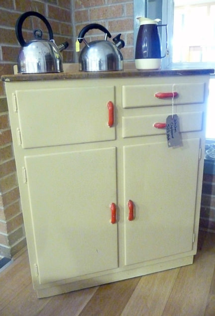 Charity Vintage: vintage 50s kitchen cupboard with warming drawer