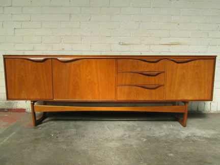 vintage teak William Lawrence sideboard for sale on eBay for Charity in support of the St Vincent Support Centre in Leeds