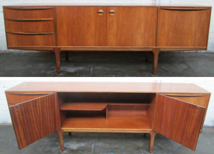 vintage Mcintosh sideboard being sold on eBay for Charity in support of St Vincent Support Centre