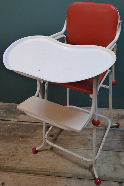 Vintage metamorphic high chair for sale by & in support of Isabel Hospice