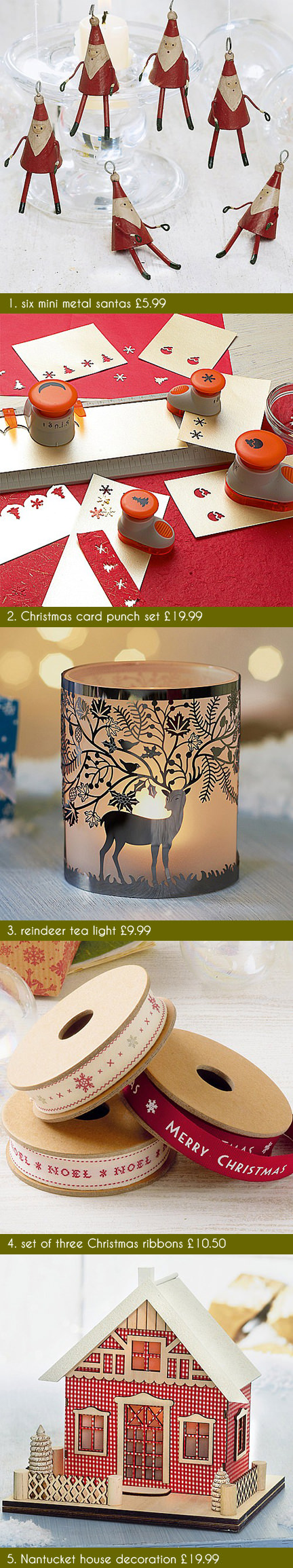 selection of festive Christmas items available on the Culture Vulture website