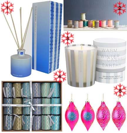 Selection of Christmas items from Designers Guild
