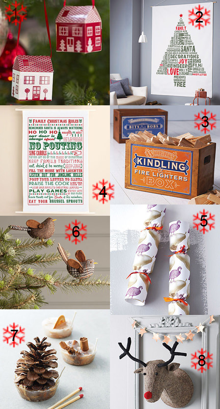 Selection of Christmas items from Notonthehighstreet
