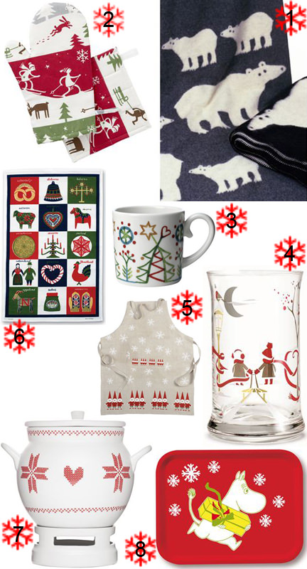selection of Christmas items from Scandinavian Design Center