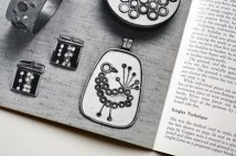 pages from a vintage craft booklet on how to make handmade jewellery