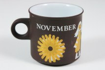 "vintage ""November"" mug produced by Hornsea Pottery"