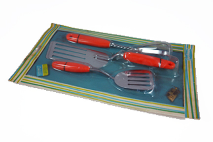 vintage orange omlette making set in original packaging