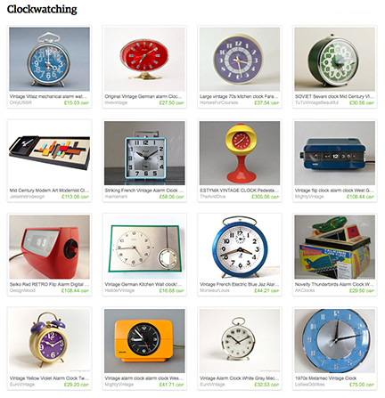 H is for Home 'Clockwatching' Etsy List