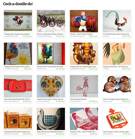 """Cock-a-doodle-do!"" Etsy List by H is for Home"