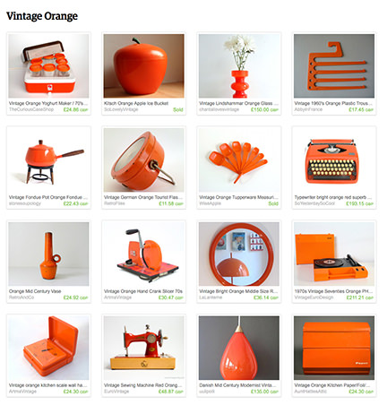 'Vintage Orange' Etsy List by H is for Home
